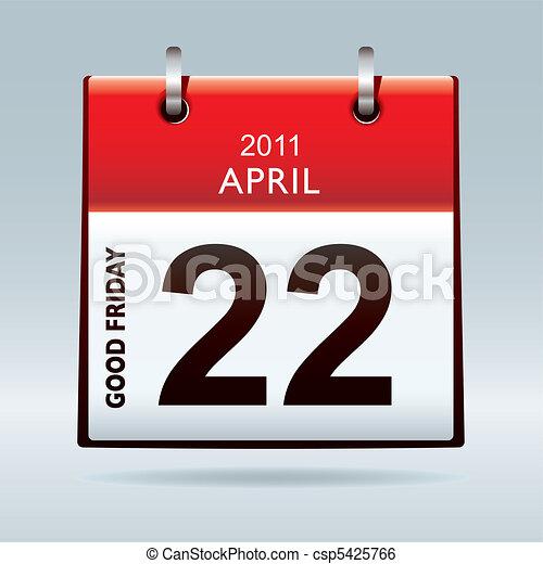 Good Friday calendar icon - csp5425766