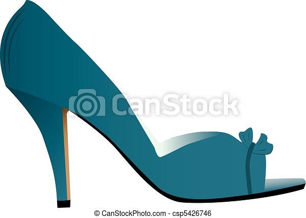 Woman high heeled shoe - csp5426746
