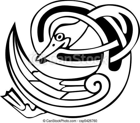 Celtic viking duck - csp5426760