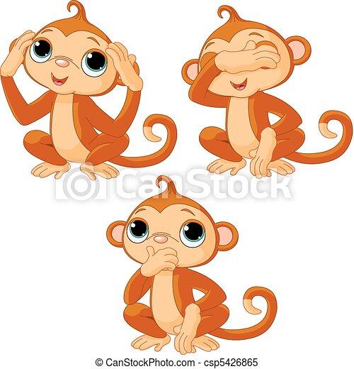 Three little monkeys - csp5426865