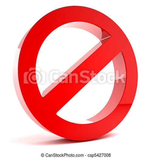 3D multi-use no admittance sign - csp5427008