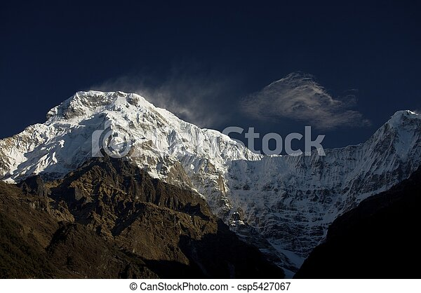South summit of anapurna at first light - csp5427067