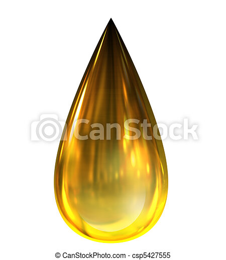 Oil Drop with reflections  - csp5427555
