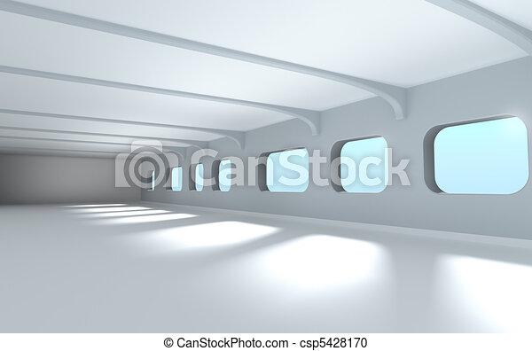 Modern architecture interior 3d - csp5428170