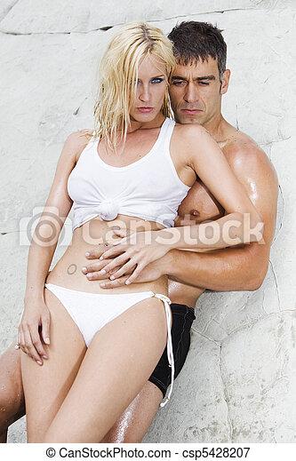 sexy couple passion - csp5428207