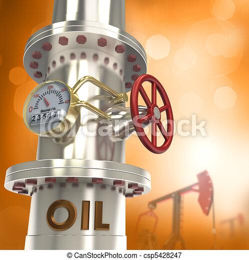 Oil pipeline - concept - csp5428247