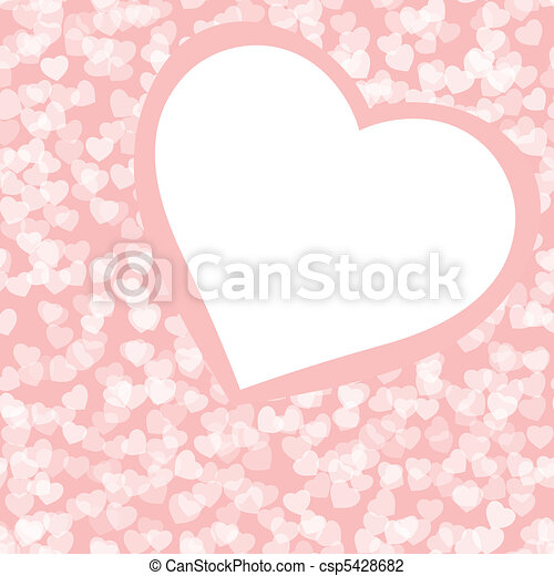 Romantic valentine background template. EPS 8 - csp5428682