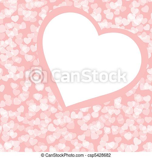 Romantic valentine background template. EPS 8 - csp5428682
