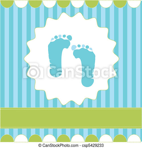 footprint of boy - csp5429233