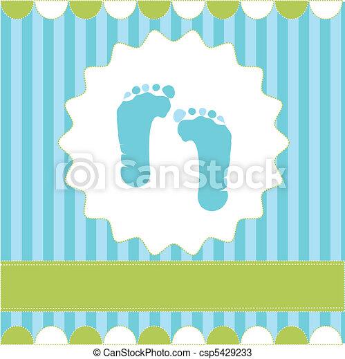 footprint of boy - csp5429233