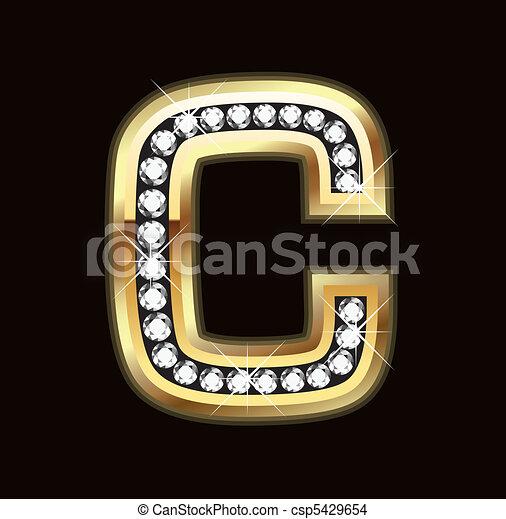 C bling letter - csp5429654