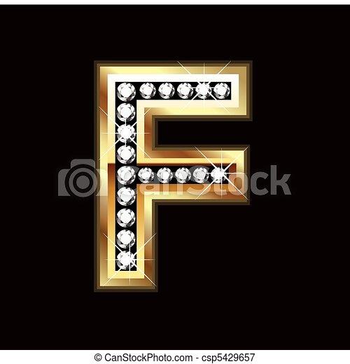 F bling letter - csp5429657