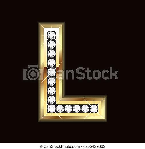 L bling letter - csp5429662