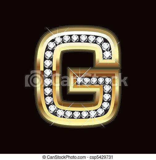 G bling letter - csp5429731