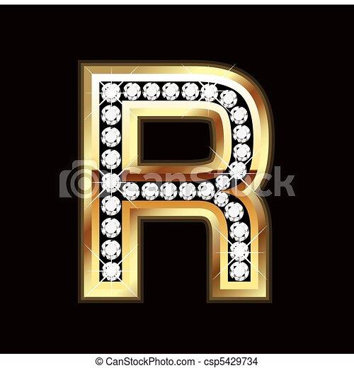 R bling letter - csp5429734