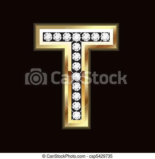 Bling T letter - csp5429735