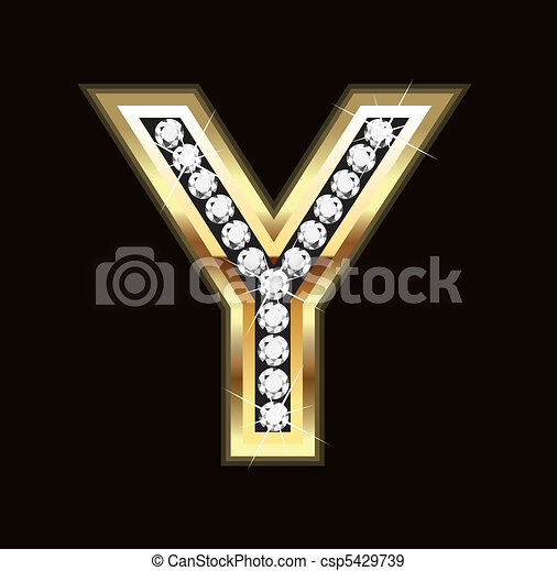 Bling Y letter - csp5429739