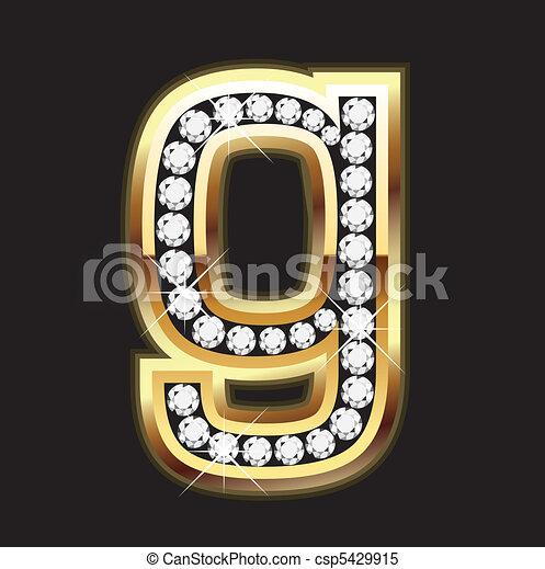 Lowercase g bling - csp5429915