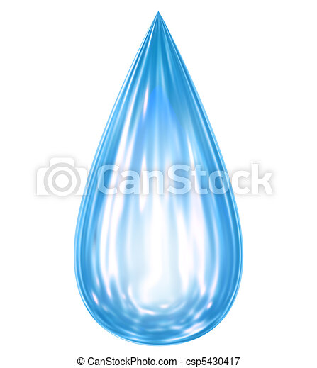 Falling water drop with reflections - csp5430417