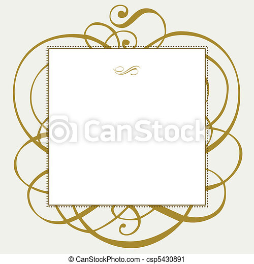 Vector Gold Ornaments and Frame - csp5430891
