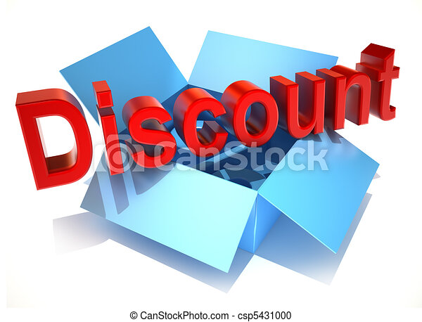 The word discount on a cardboard - csp5431000
