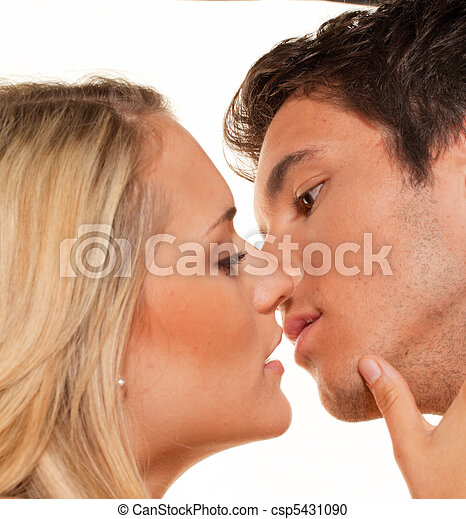Couple has fun. Love, eroticism and tenderness in - csp5431090