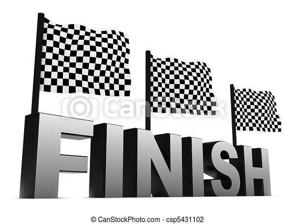 Racing Flags and Finish - csp5431102