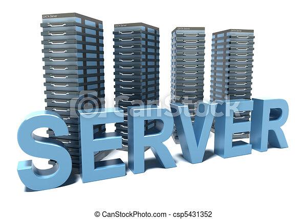 Server word in front of grey - csp5431352