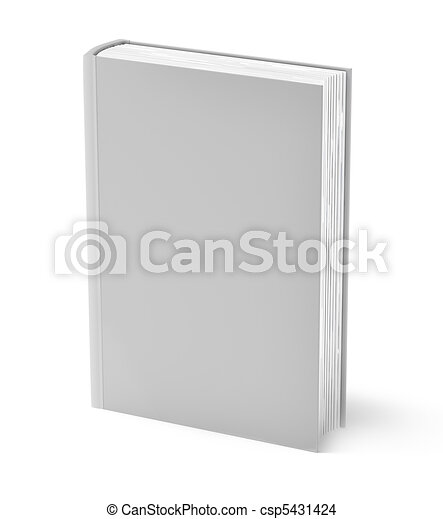 Gray book isolated on white - csp5431424