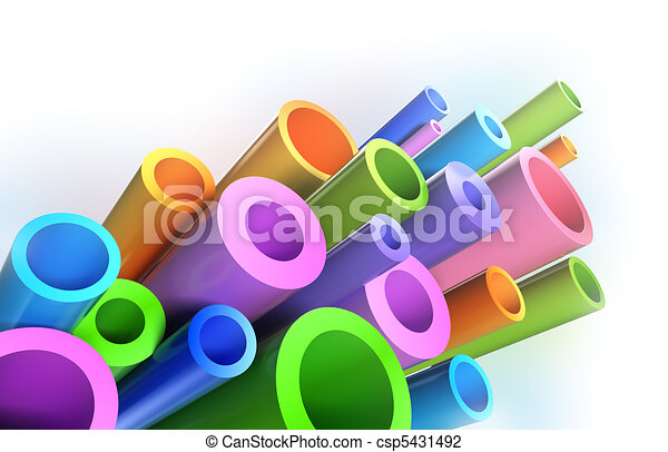 Colorful tubes . Background pattern - csp5431492