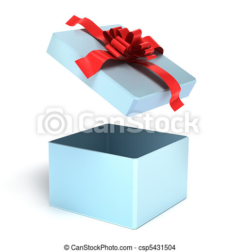 dessin de ouvert vide cadeau bo te isol blanc csp5431504 recherchez des illustrations. Black Bedroom Furniture Sets. Home Design Ideas