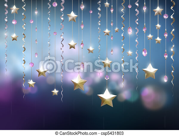 Glamour party abstract background - csp5431803