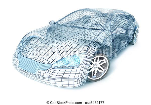 Car design, wire model - csp5432177