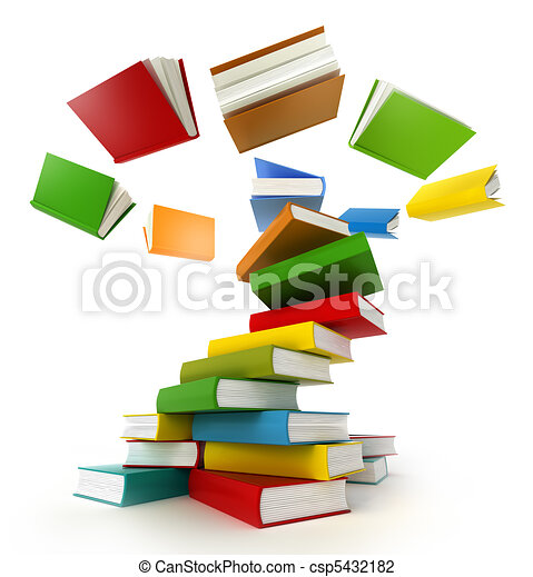 Books Tornado . Isolated on white. - csp5432182