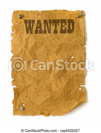 Wild west Wanted poster  - csp5432427