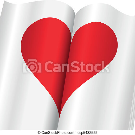 upright heart in a notebook - csp5432588