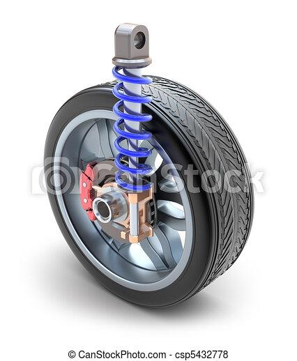 Wheel, shock absorber and brake - csp5432778