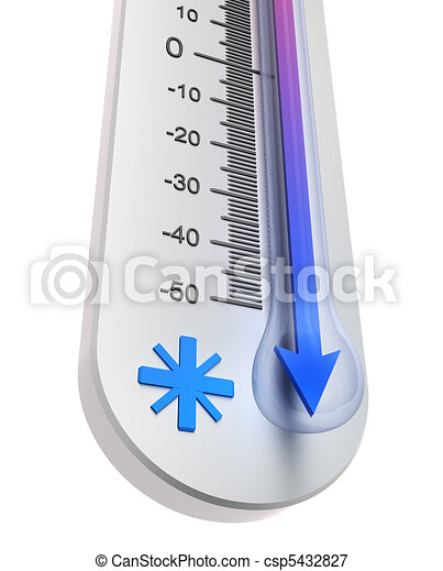 Thermometer : Temperature decline - csp5432827