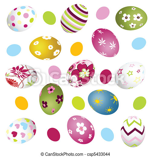easter, eggs - csp5433044