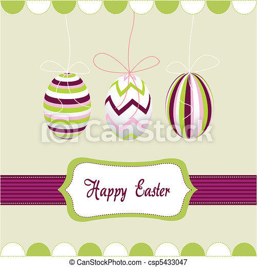 happy easter, eggs - csp5433047