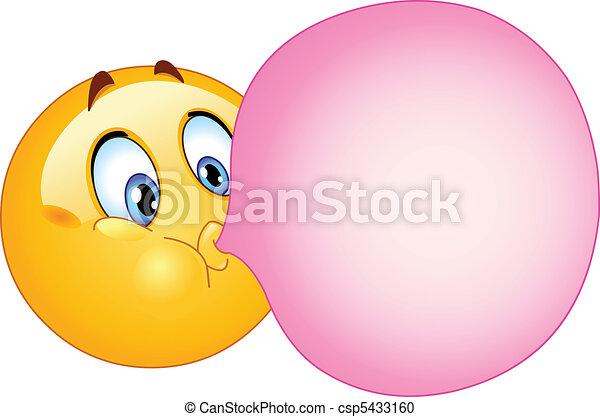 Bubble gum emoticon - csp5433160