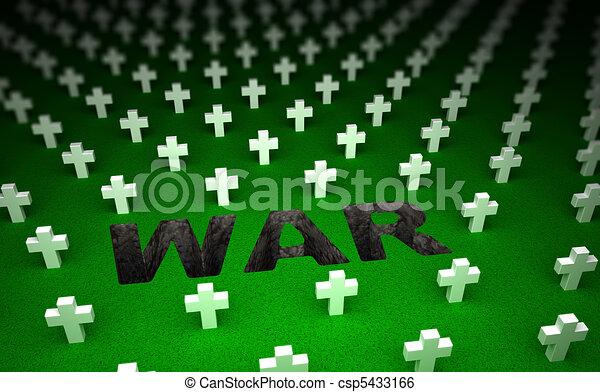 War cemetery memorial. 3D concept - csp5433166