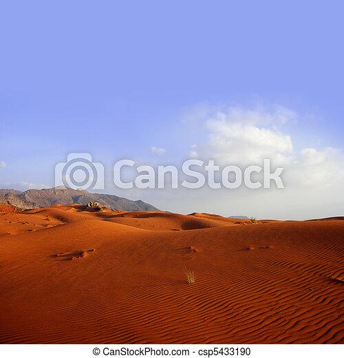 Desert landscape - sand dune - csp5433190