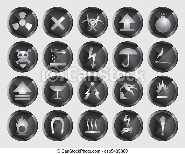 danger signs and icons - csp5433360