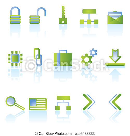 reflect security icons - csp5433383