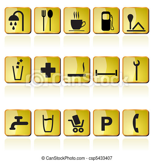 petrol station icons - csp5433407
