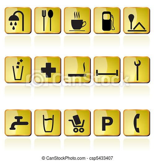 petrol station icons - csp5433407