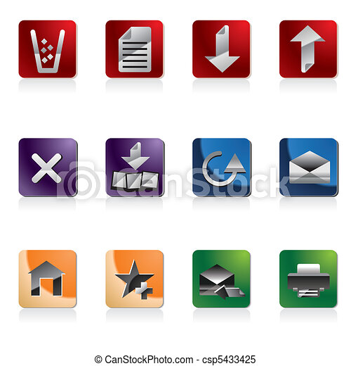 Web site and computer Icons - csp5433425