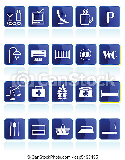 Hotel and Motel Icons - csp5433435