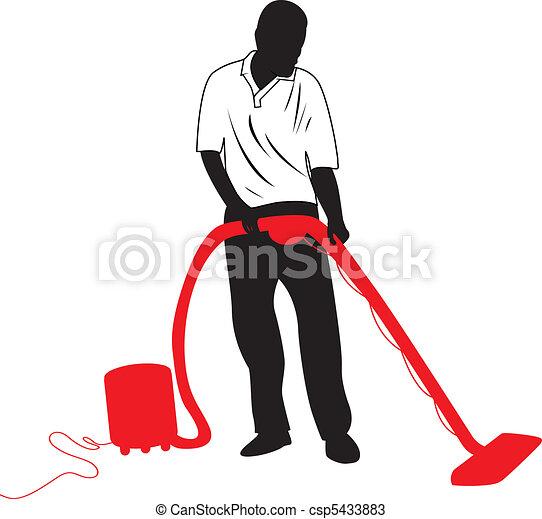 man vacuuming - csp5433883